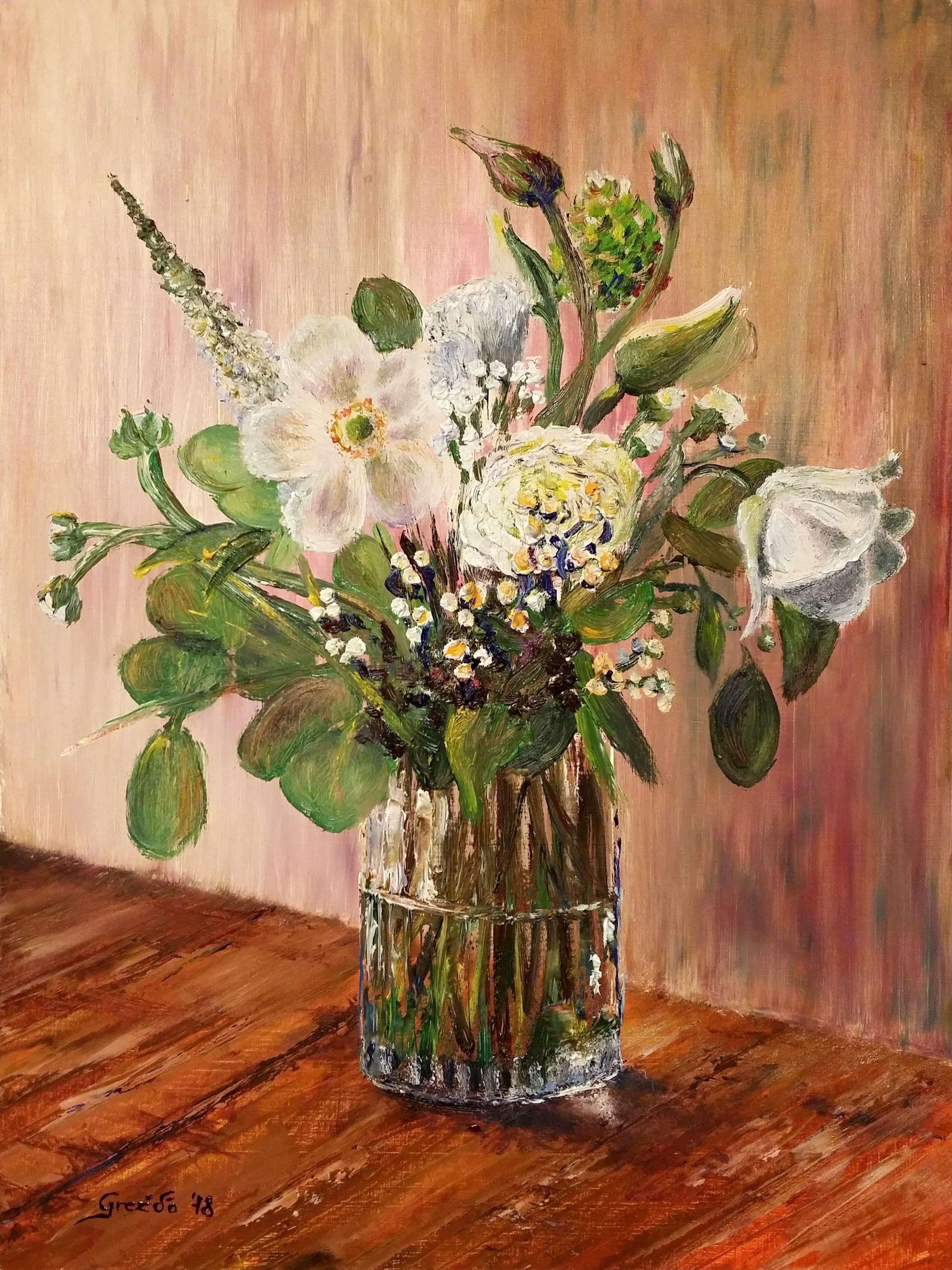 Zátišie s kvetmi IV.